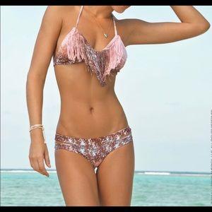 LSpace celestial fringe bikini